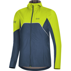 GORE WEAR R7 Partial Gore-Tex Infinium Hooded Jacket Women deep water blue/citrus green